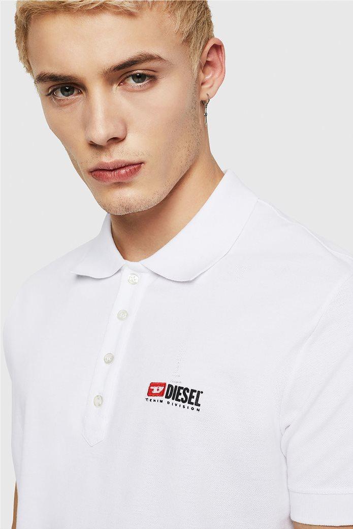 "Diesel ανδρική πόλο μπλούζα με κεντημένο logo ""T-Weet-Div"" 2"