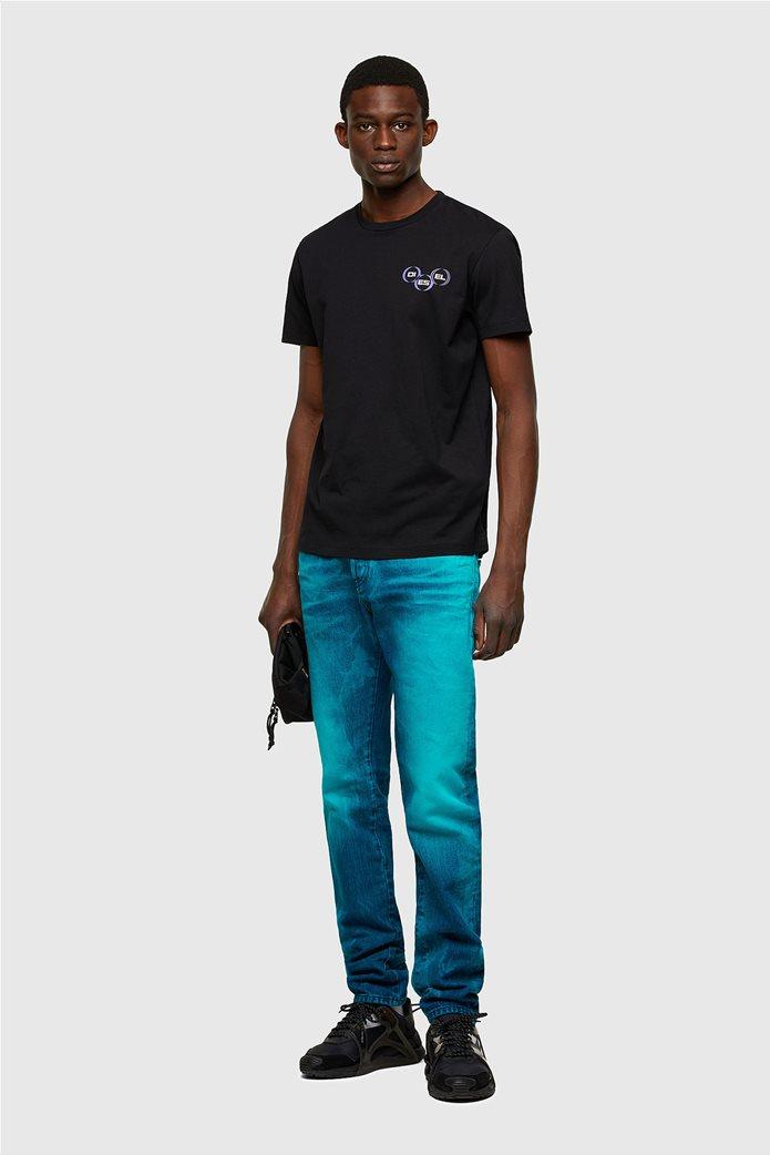 "Diesel ανδρικό T-shirt με logo print ""T-Diegos-K41"" Μαύρο 1"