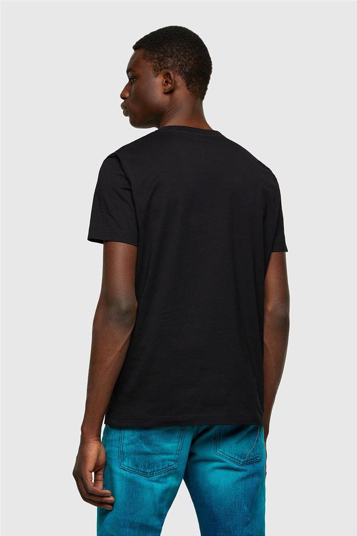 "Diesel ανδρικό T-shirt με logo print ""T-Diegos-K41"" Μαύρο 2"