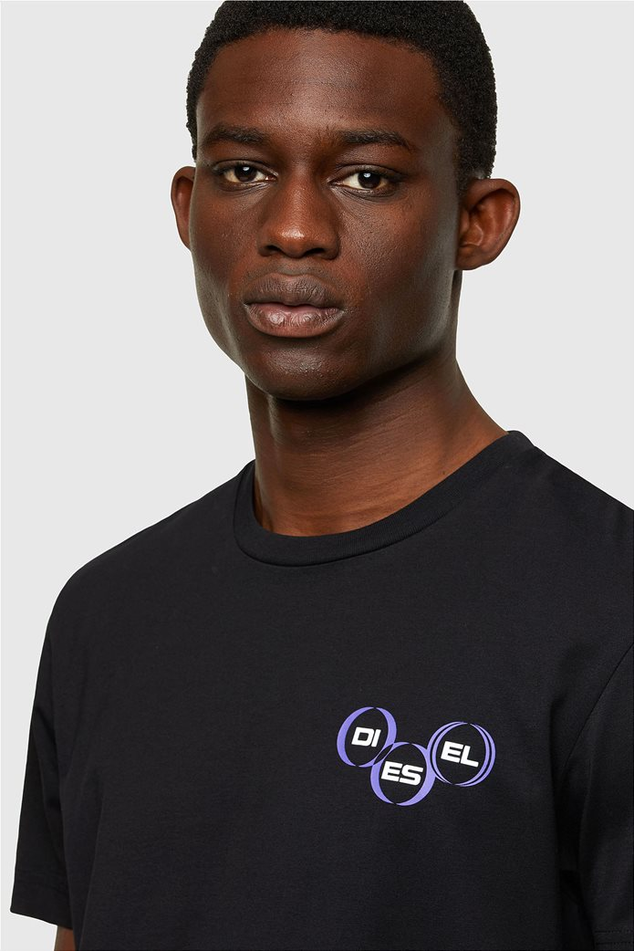"Diesel ανδρικό T-shirt με logo print ""T-Diegos-K41"" Μαύρο 3"