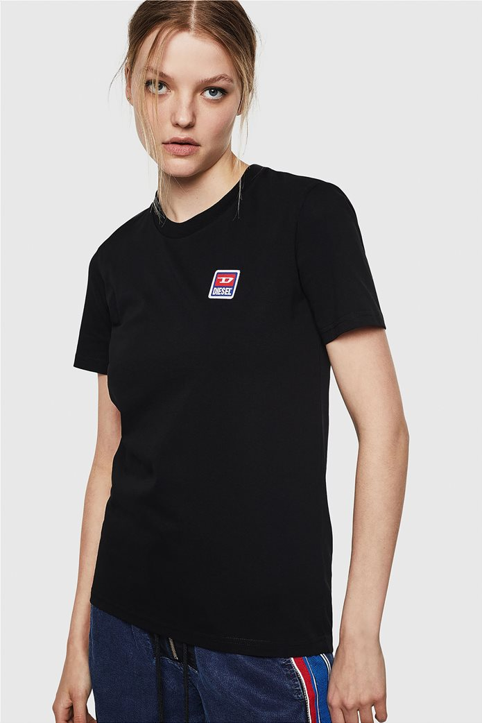 "Diesel γυναικείο T-shirt με jacquard patch ""T-Sily-ZE"" 0"