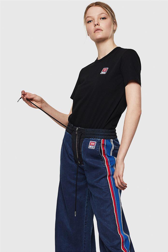 "Diesel γυναικείο T-shirt με jacquard patch ""T-Sily-ZE"" 2"