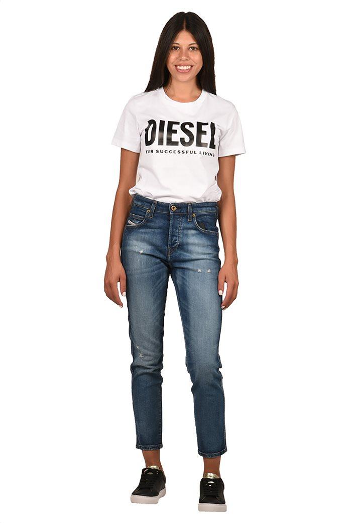 "Diesel γυναικείο τζην παντελόνι cropped με ξεβαμμένη όψη ""Babhila L30"" 2"