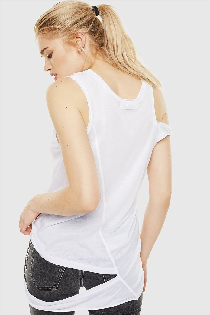 "Diesel γυναικεία αμάνικη μπλούζα σε damaged style ""T-Tabby"" 1"