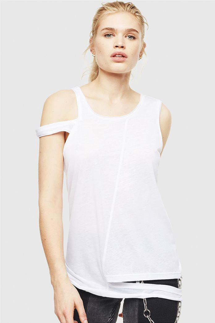 "Diesel γυναικεία αμάνικη μπλούζα σε damaged style ""T-Tabby"" 2"