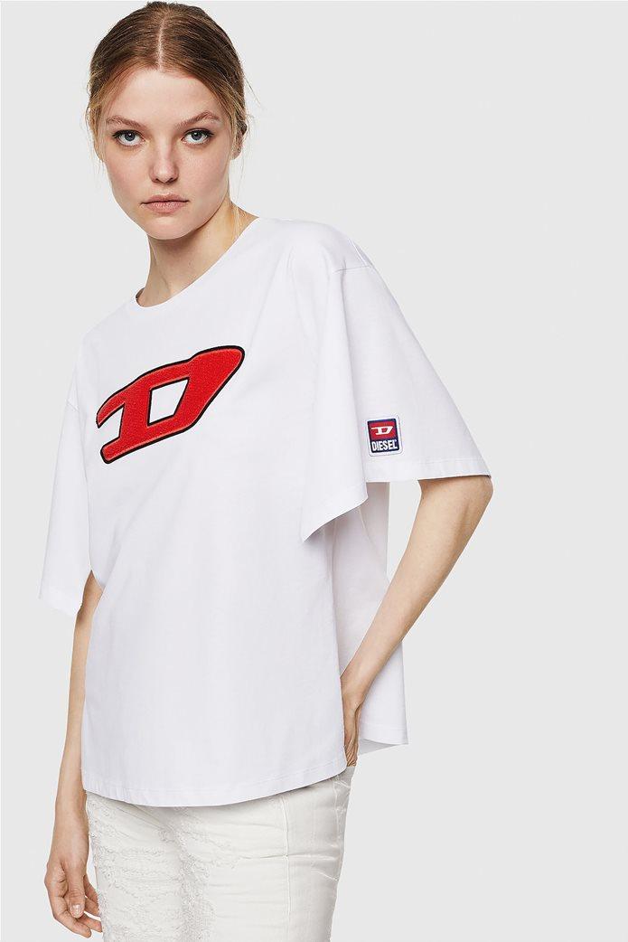 "Diesel γυναικείο T-shirt με logo print  ""Jacky-I"" 0"