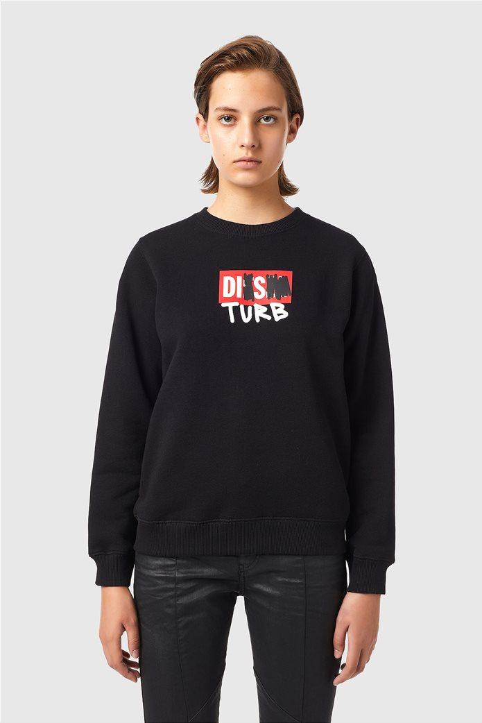 Diesel γυναικεία μπλούζα φούτερ με graphic print ''F-Angs-B3'' Μαύρο 0
