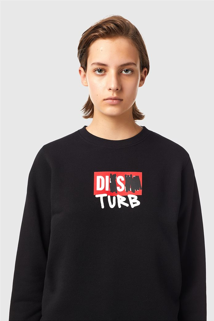 Diesel γυναικεία μπλούζα φούτερ με graphic print ''F-Angs-B3'' Μαύρο 1