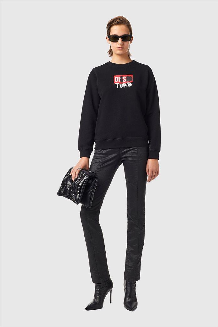 Diesel γυναικεία μπλούζα φούτερ με graphic print ''F-Angs-B3'' Μαύρο 2