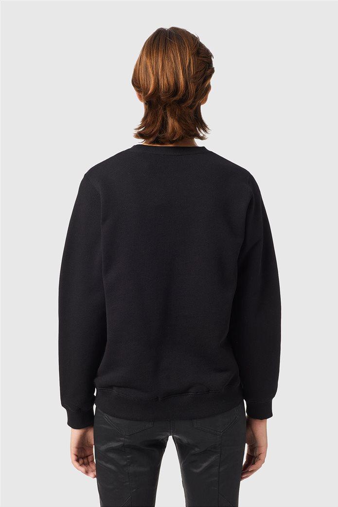 Diesel γυναικεία μπλούζα φούτερ με graphic print ''F-Angs-B3'' Μαύρο 3