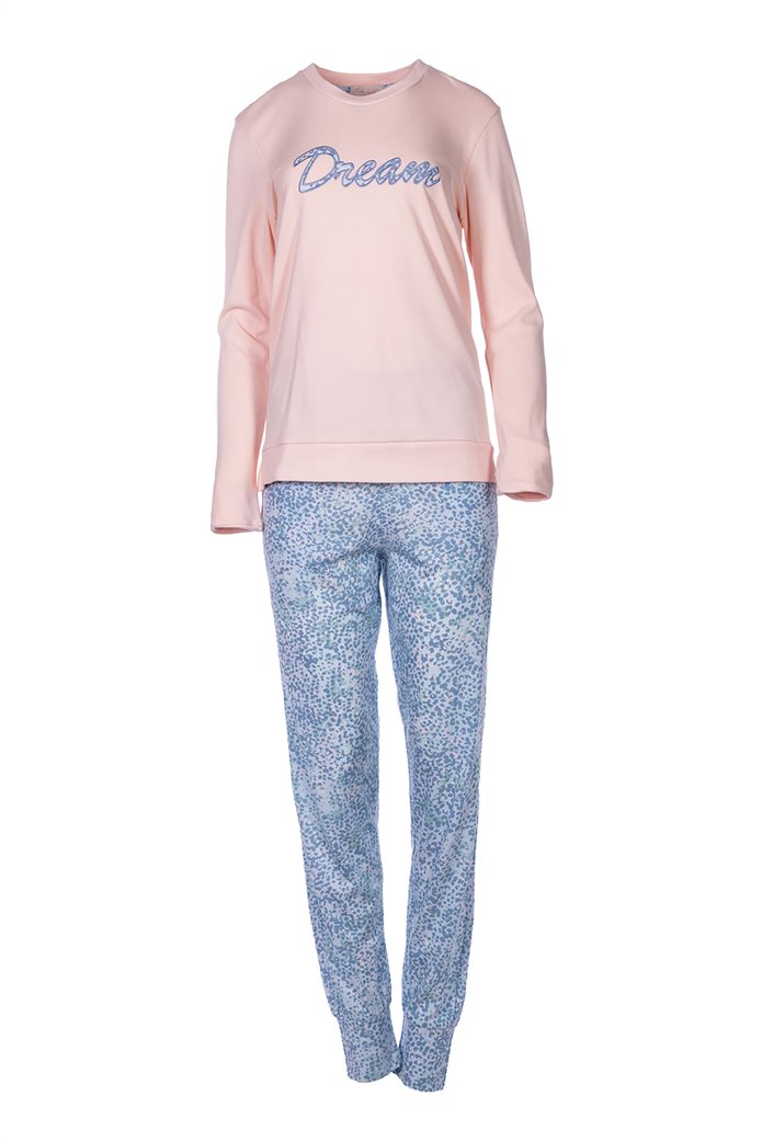 Pink Label γυναικείο σετ πιτζάμες με μπλούζα και παντελόνι με animal print 0