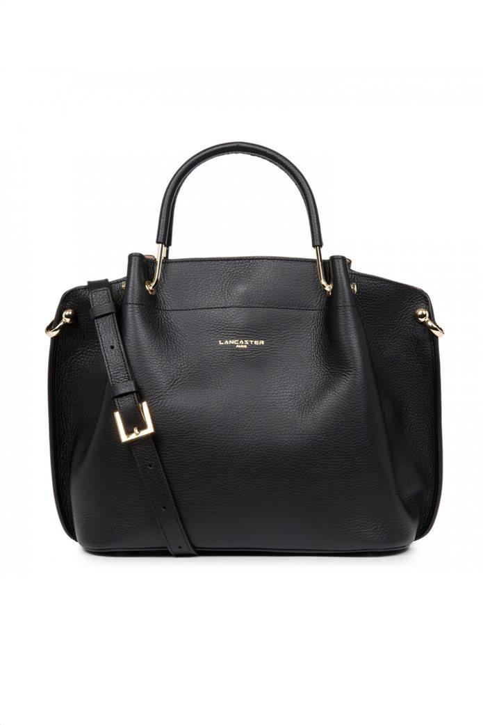 Lancaster γυναικεία τσάντα χειρός με μεταλλικές λεπτομέρειες 0