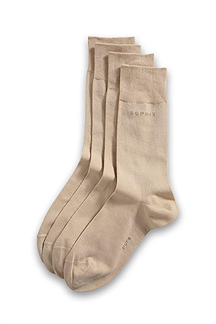 Esprit ανδρικές ψηλές κάλτσες (σετ 2 τεμαχίων) Κρέμ 0