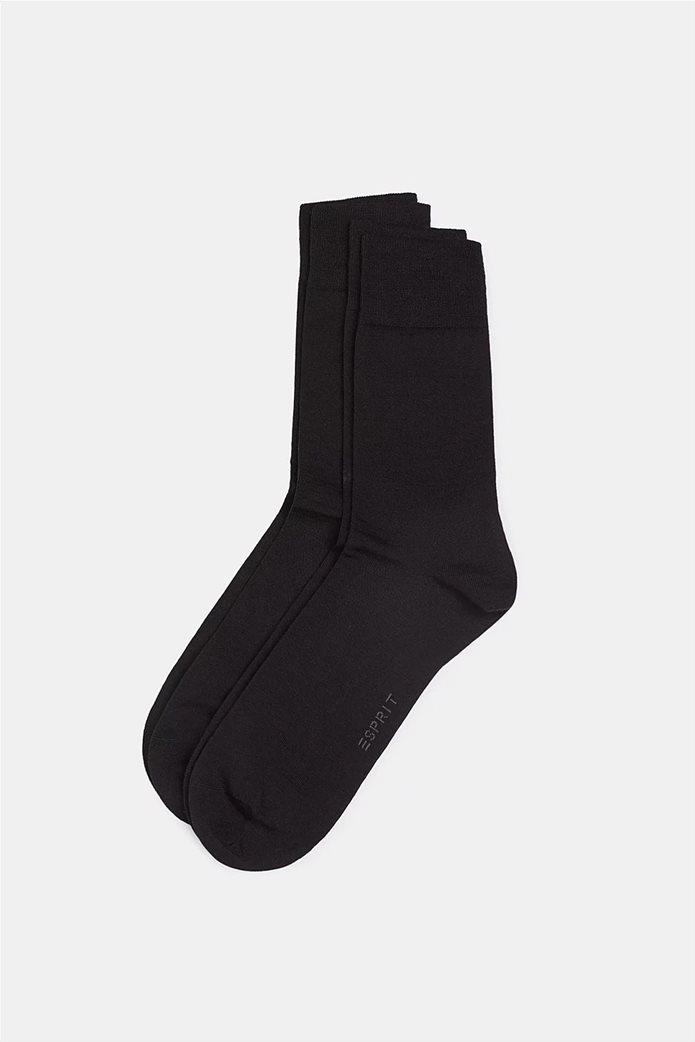 Esprit ανδρικές κάλτσες μονόχρωμες με κεντημένο λογότυπο 0