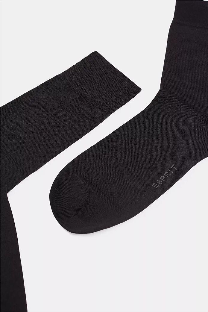 Esprit ανδρικές κάλτσες μονόχρωμες με κεντημένο λογότυπο 1