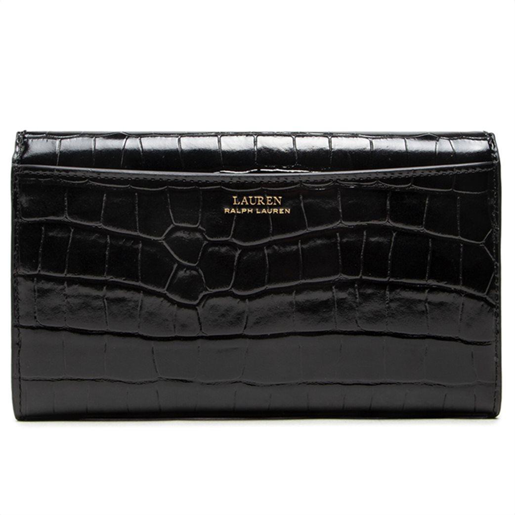 "Lauren Ralph Lauren γυναικείος δερμάτινος φάκελος με αλυσίδα ""Adair"" Μαύρο 1"