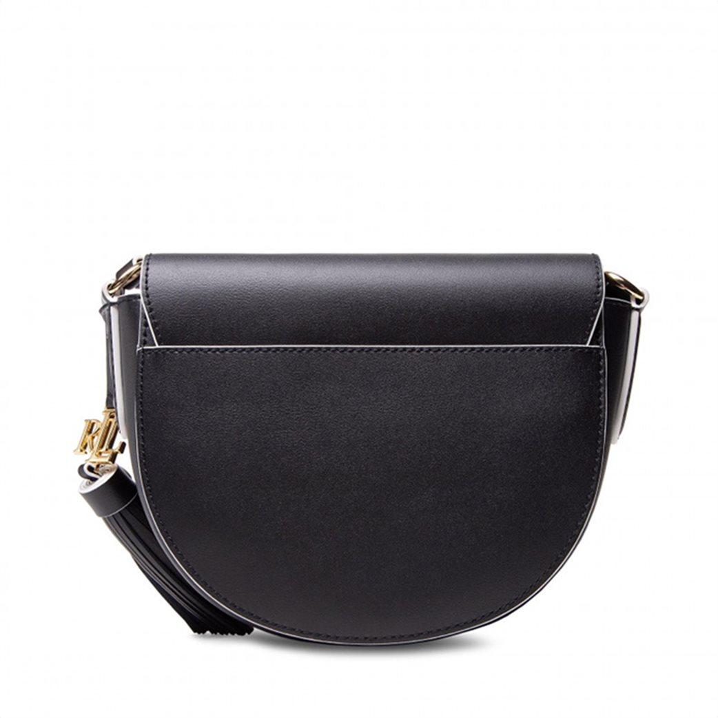 """Lauren Ralph Lauren γυναικεία δερμάτινη crossbody τσάντα με graphic print """"Witley"""" Μαύρο 2"""