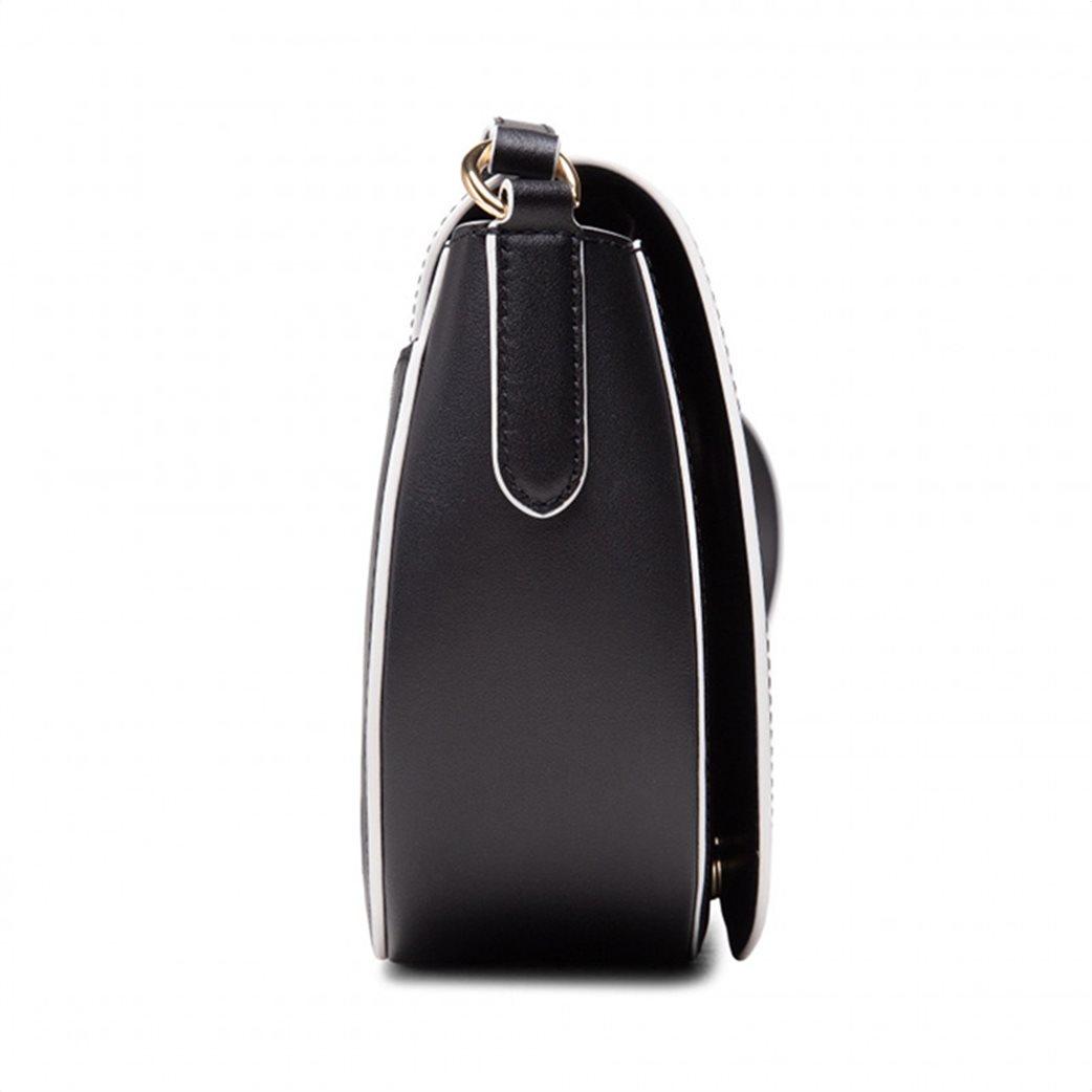 """Lauren Ralph Lauren γυναικεία δερμάτινη crossbody τσάντα με graphic print """"Witley"""" Μαύρο 3"""