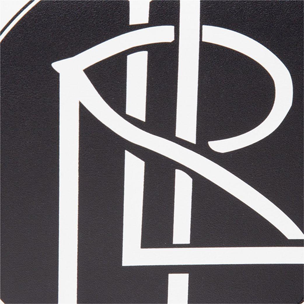 """Lauren Ralph Lauren γυναικεία δερμάτινη crossbody τσάντα με graphic print """"Witley"""" Μαύρο 4"""