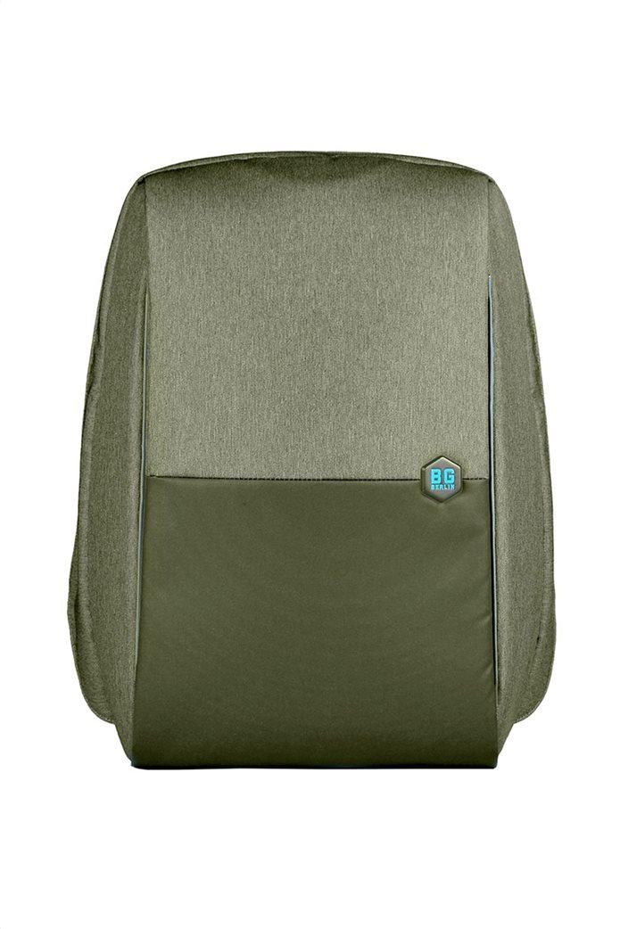 "BG Berlin σακίδιο πλάτης με μεταλλικό λογότυπο και θύρα usb ""Groen"" 0"