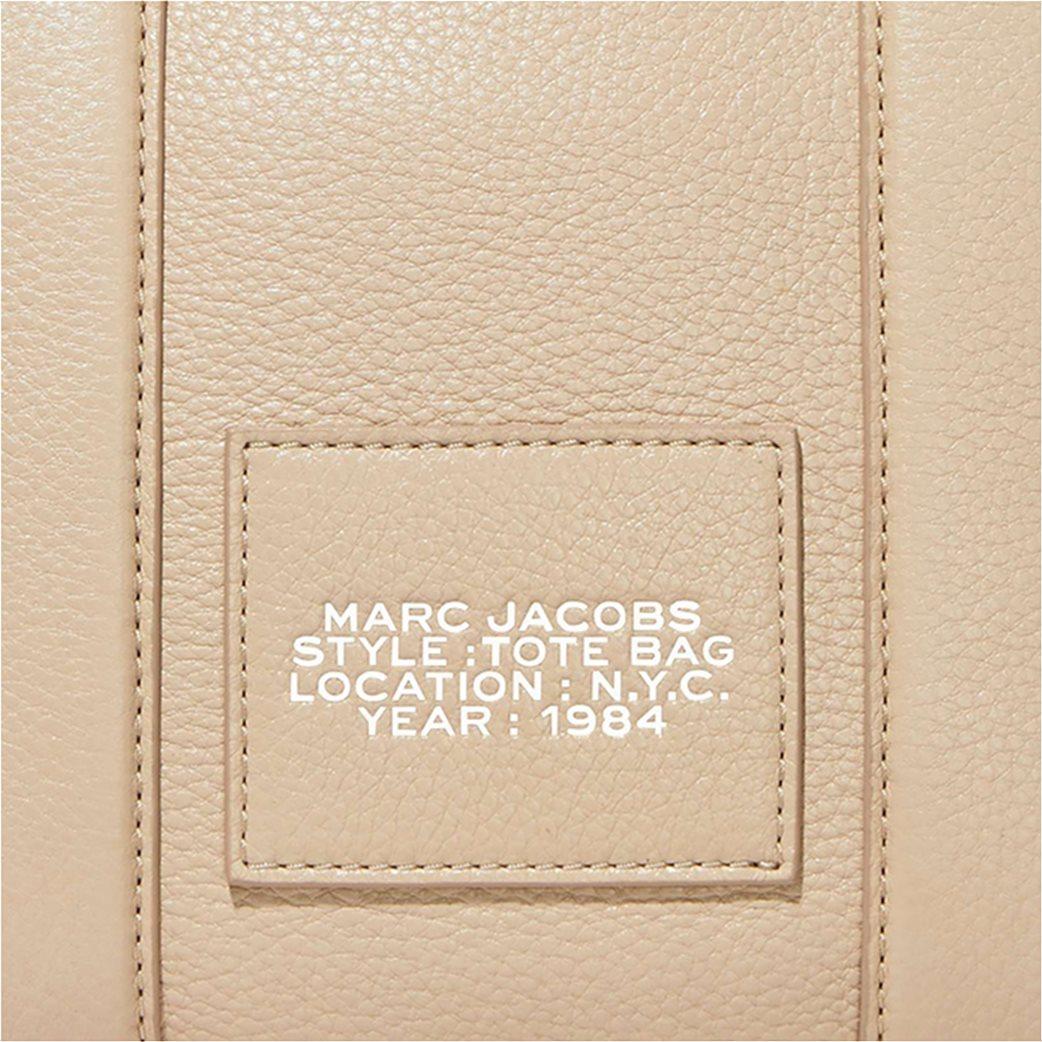 "Marc Jacobs γυναικεία δερμάτινη τσάντα χειρός με logo print ""The Mini Tote"" Μαύρο 4"