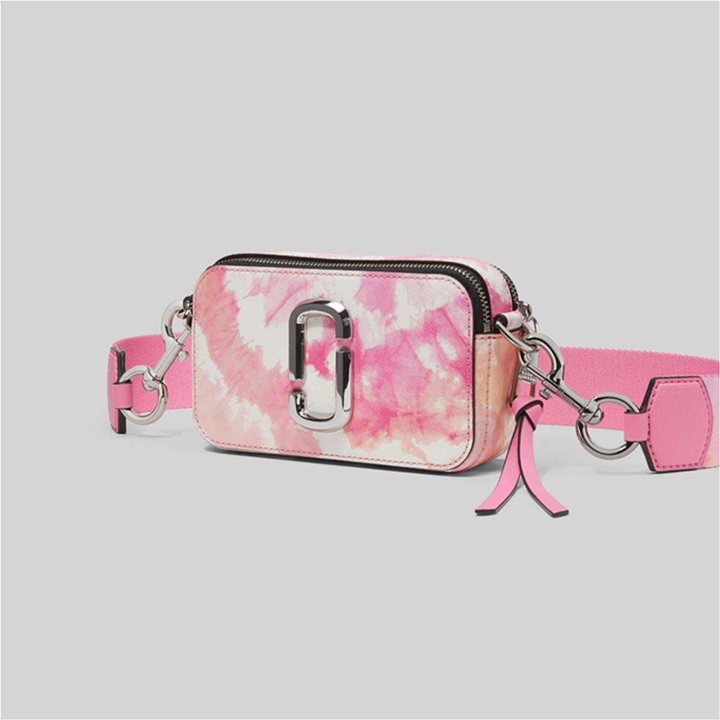 "Marc Jacobs γυναικείο δερμάτινο mini bag ""The Tie Dye Snapshot"" Ροζ 2"