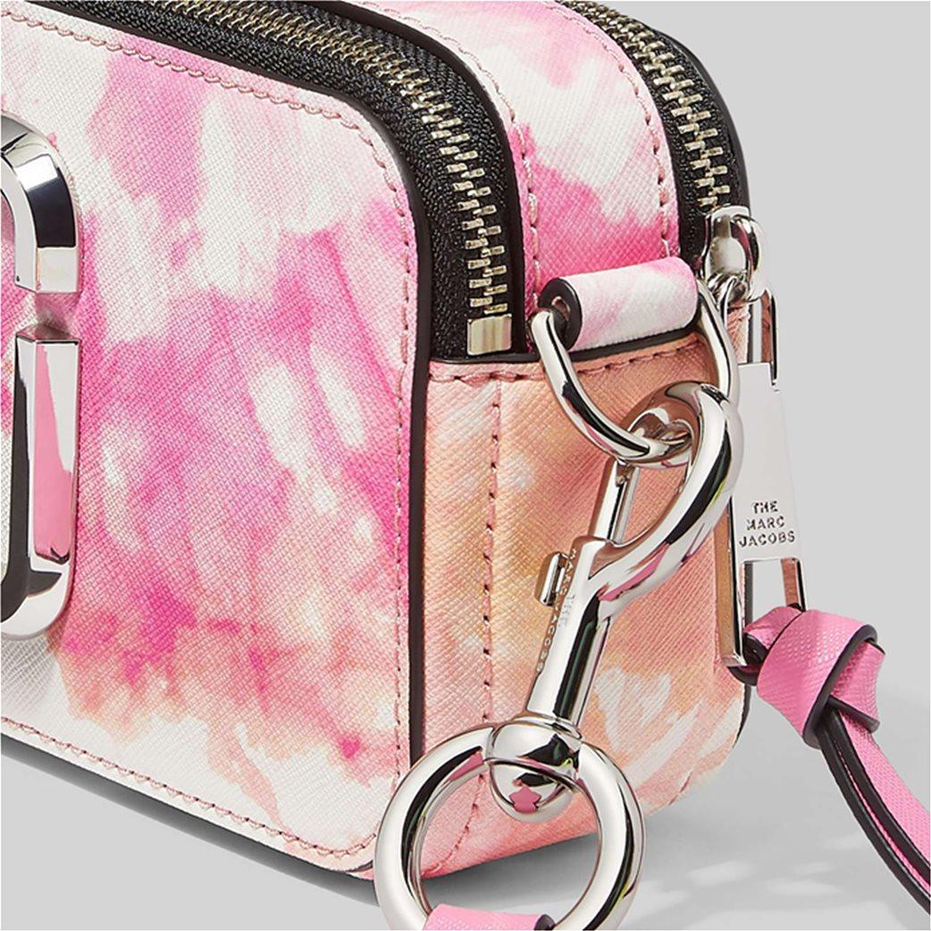 "Marc Jacobs γυναικείο δερμάτινο mini bag ""The Tie Dye Snapshot"" Ροζ 3"