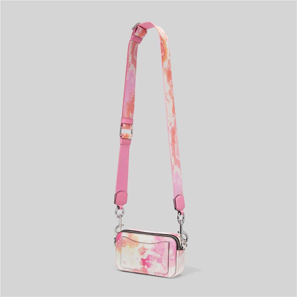 "Marc Jacobs γυναικείο δερμάτινο mini bag ""The Tie Dye Snapshot"" Ροζ 4"