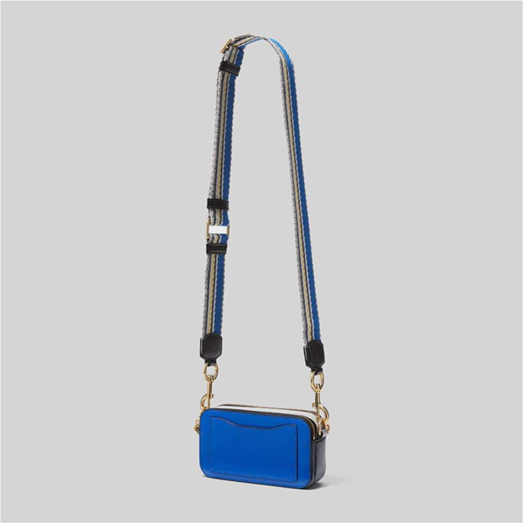 "Marc Jacobs γυναικείο δερμάτινο mini bag ""Snapshot"" Ροζ 2"