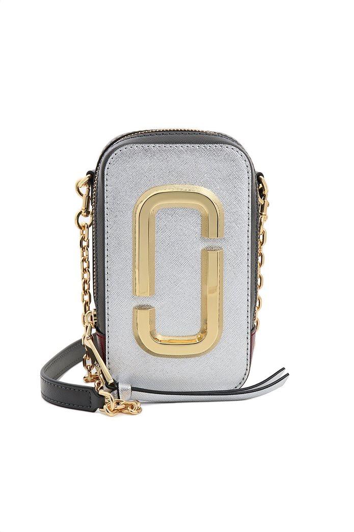 """Marc Jacobs γυναικείο δερμάτινο mini bag """"The Hot Shot"""" Ασημί 0"""