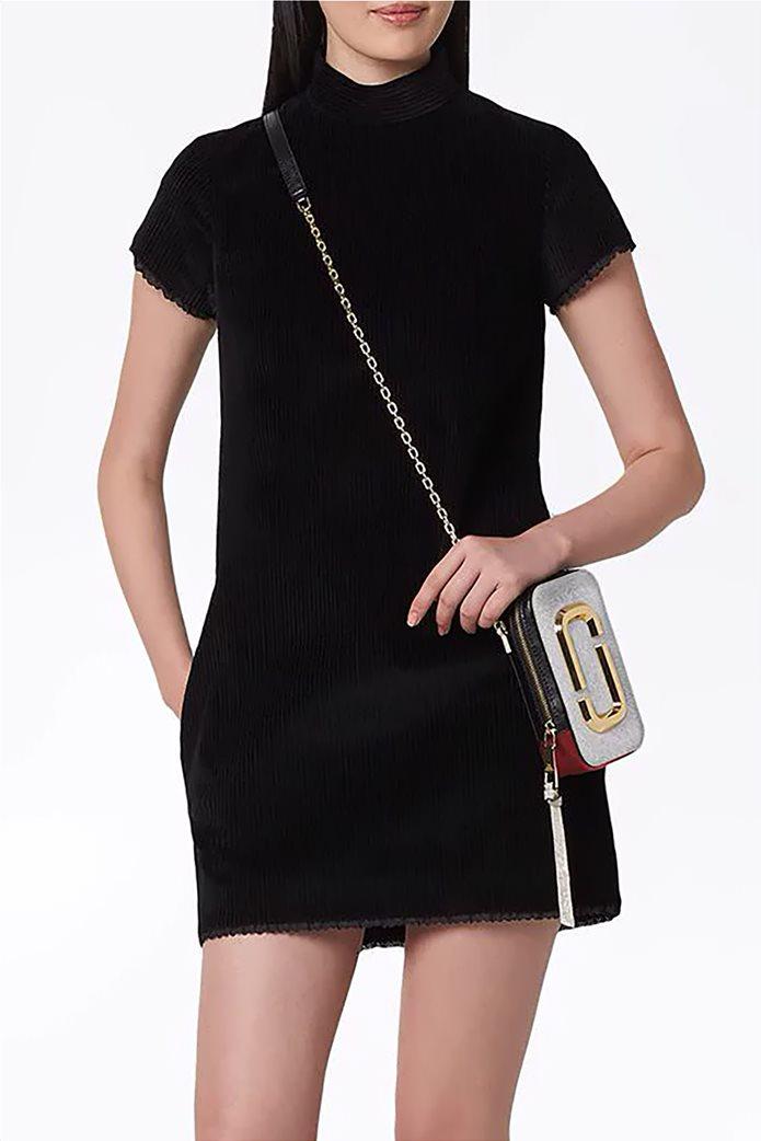 """Marc Jacobs γυναικείο δερμάτινο mini bag """"The Hot Shot"""" Ασημί 1"""