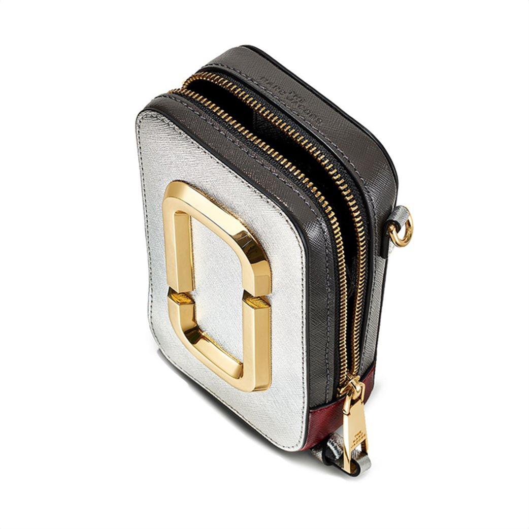 """Marc Jacobs γυναικείο δερμάτινο mini bag """"The Hot Shot"""" Ασημί 3"""