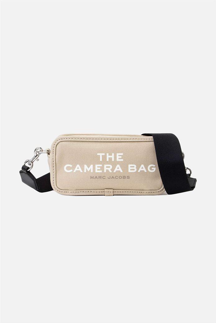 "Marc Jacobs γυναικεία τσάντα crossbody με print ""The Camera Bag"" Εκρού 0"