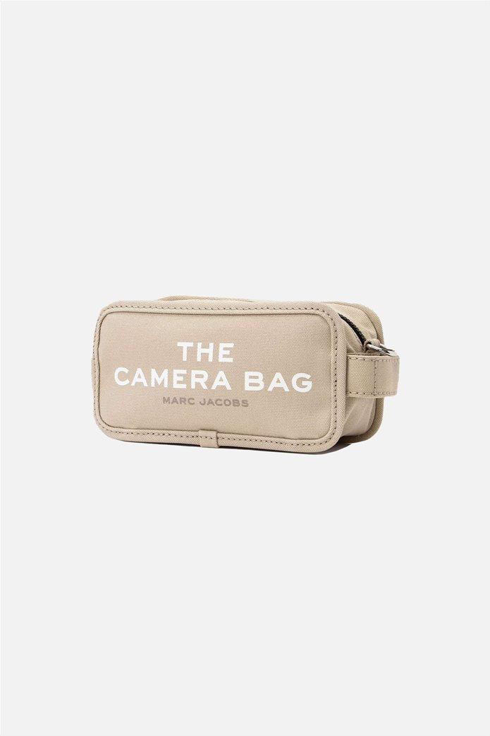 "Marc Jacobs γυναικεία τσάντα crossbody με print ""The Camera Bag"" Εκρού 1"