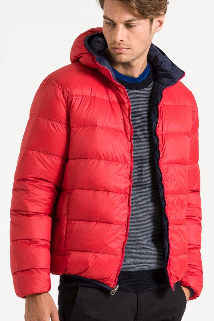 North Sails ανδρικό μπουφάν καπιτονέ με κουκούλα διπλής όψης Reversible hooded jacket 1