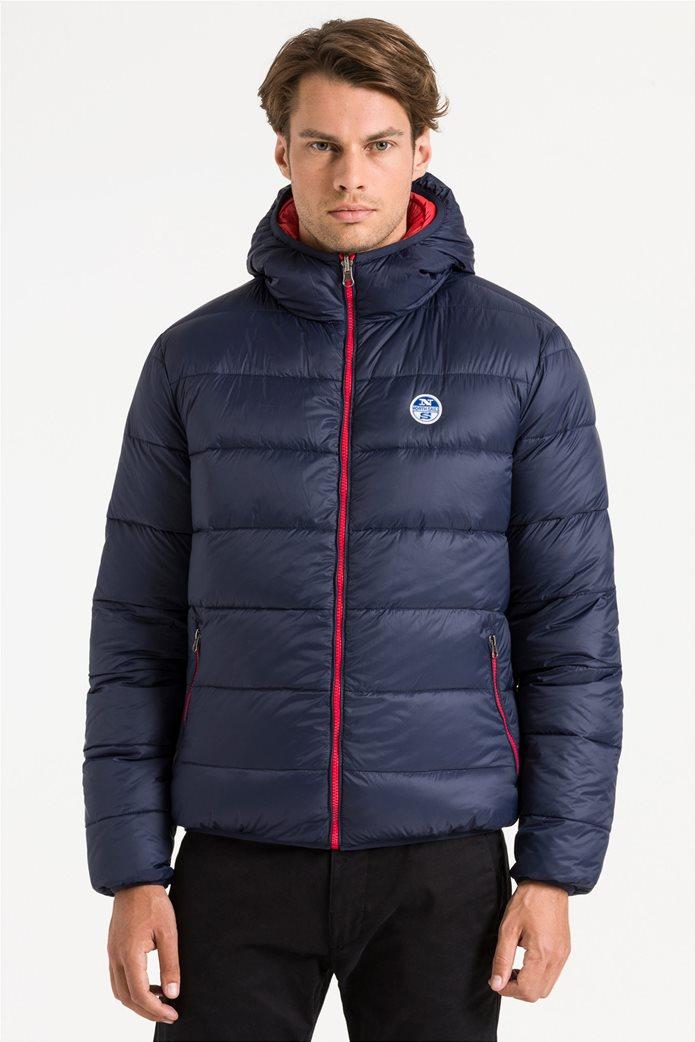 North Sails ανδρικό μπουφάν καπιτονέ με κουκούλα διπλής όψης Reversible hooded jacket 2