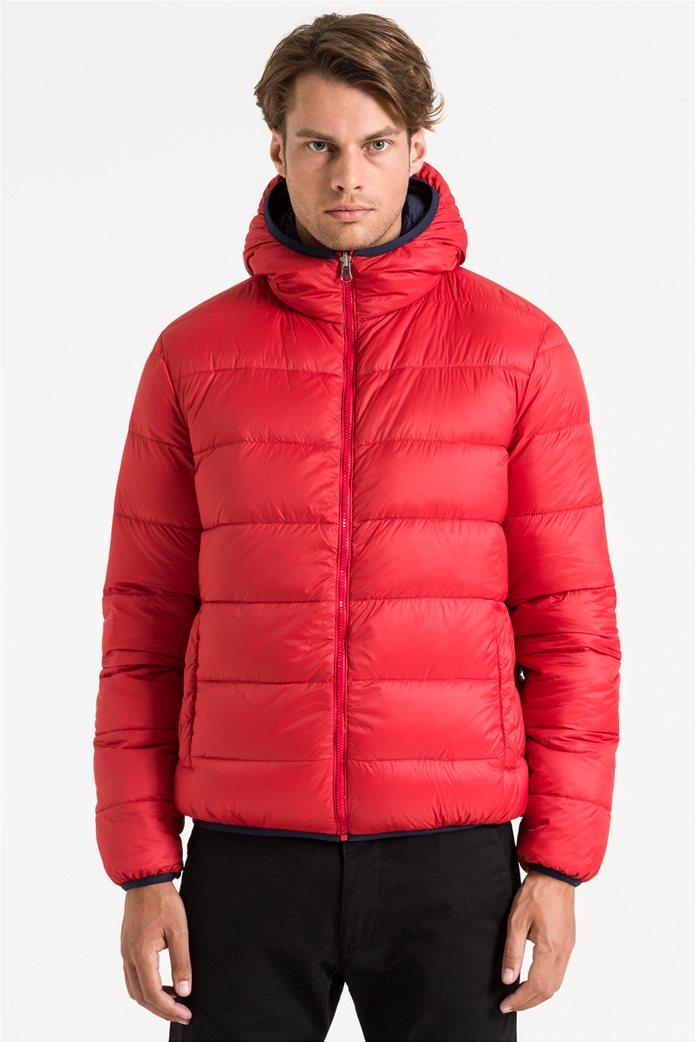 North Sails ανδρικό μπουφάν καπιτονέ με κουκούλα διπλής όψης Reversible hooded jacket 3