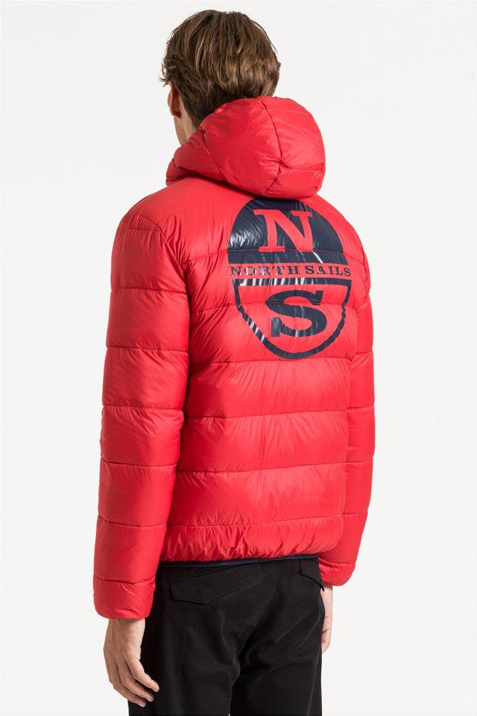 North Sails ανδρικό μπουφάν καπιτονέ με κουκούλα διπλής όψης Reversible hooded jacket 5