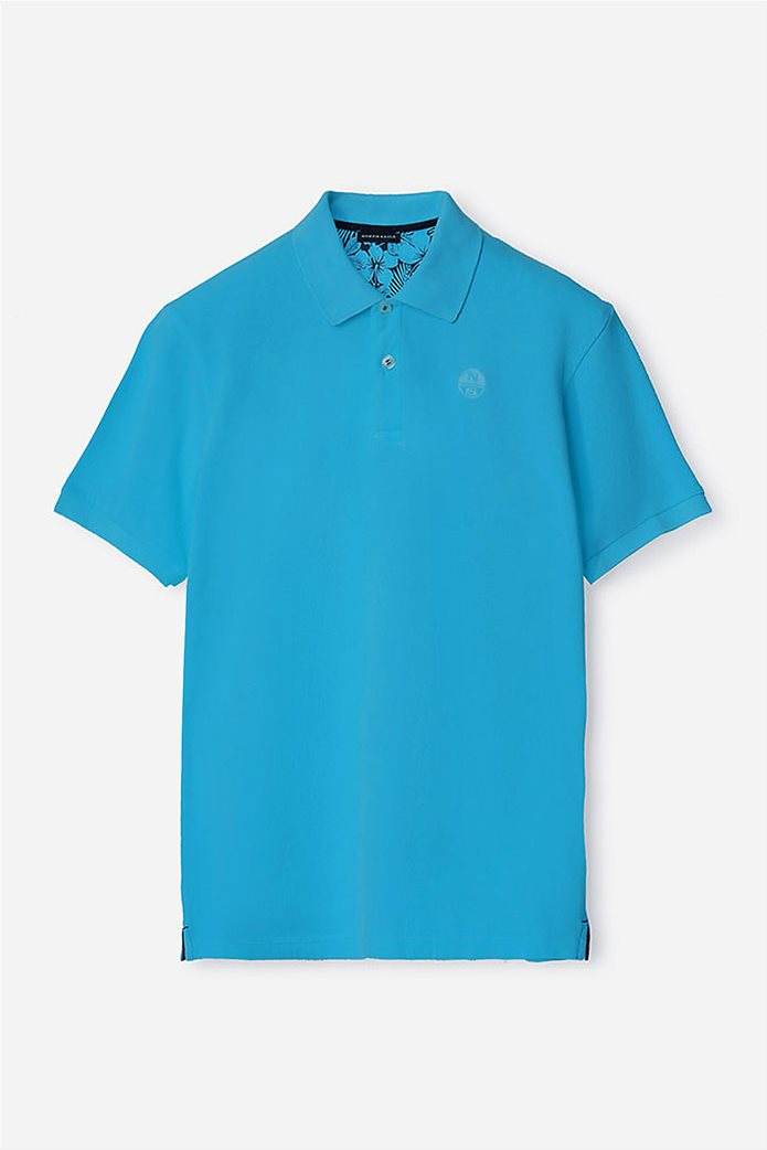 North Sails ανδρική μπλούζα πόλο με κεντημένο λογότυπο 4