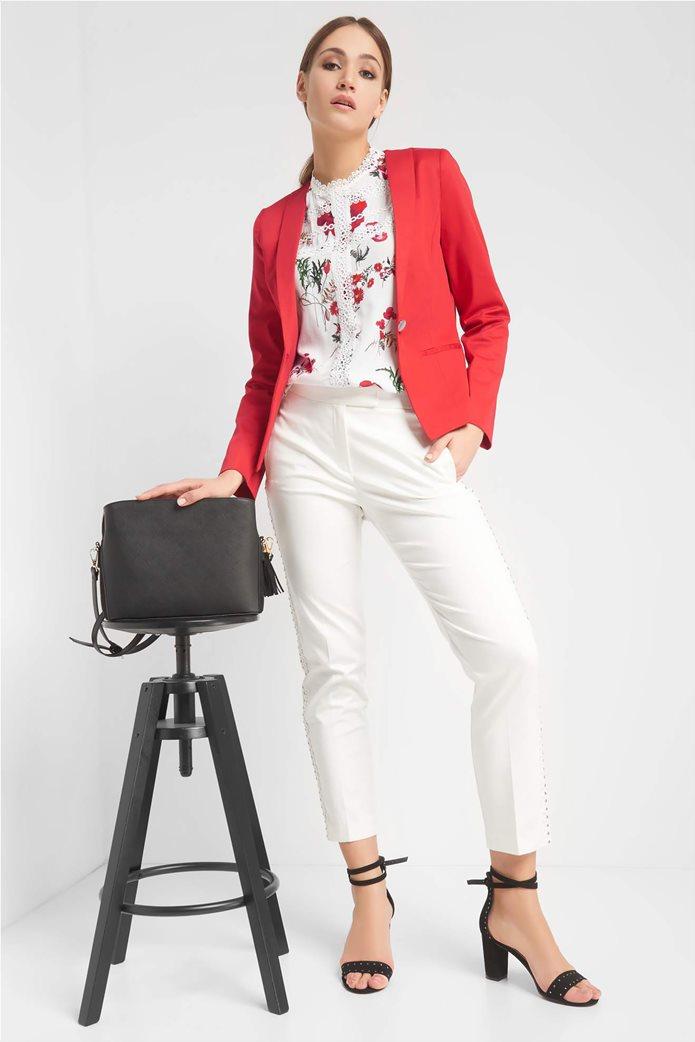 Orsay Γυναικείο σακάκι μονόχρωμο μονόκουμπο με μακρύ μανίκι 0