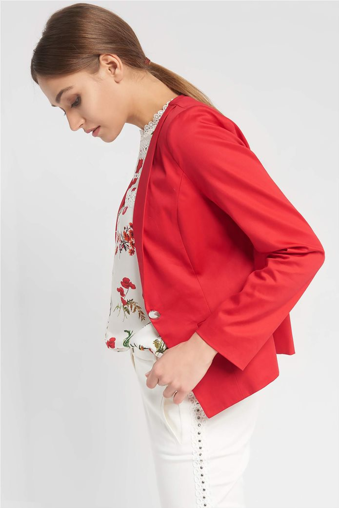 Orsay Γυναικείο σακάκι μονόχρωμο μονόκουμπο με μακρύ μανίκι 1