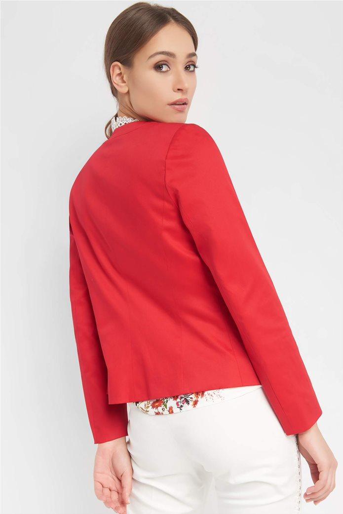 Orsay Γυναικείο σακάκι μονόχρωμο μονόκουμπο με μακρύ μανίκι 2