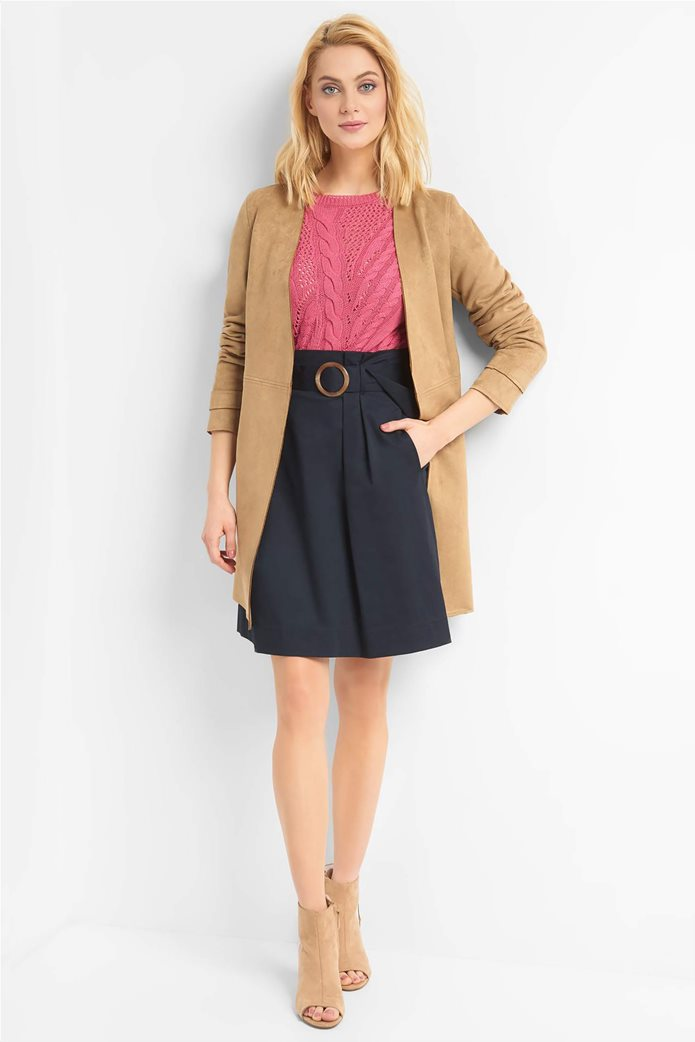 Orsay γυναικείο midi παλτό suede υφή 0