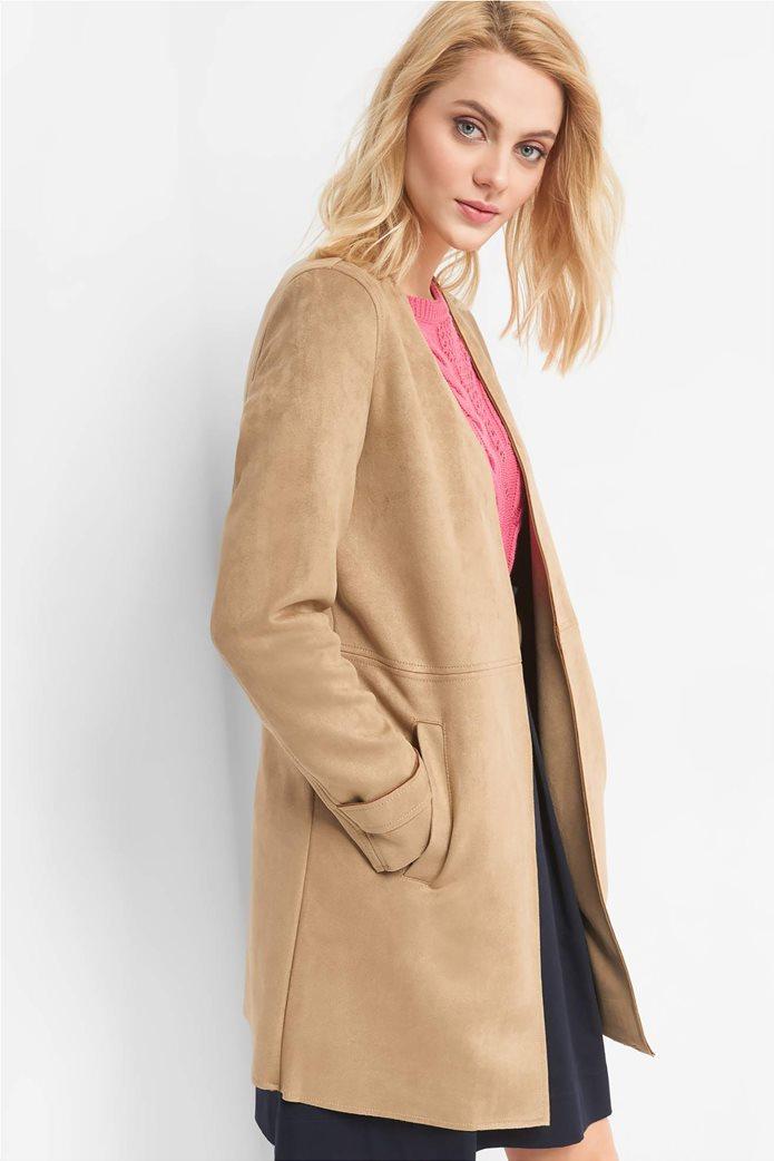 Orsay γυναικείο midi παλτό suede υφή 1