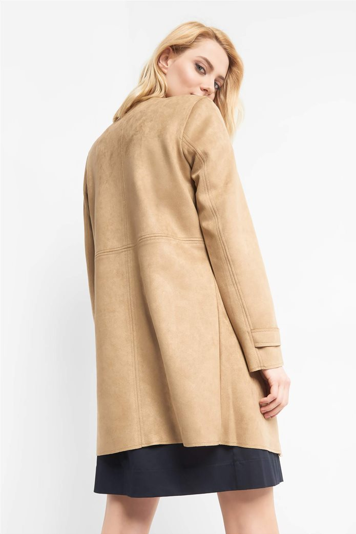 Orsay γυναικείο midi παλτό suede υφή 2