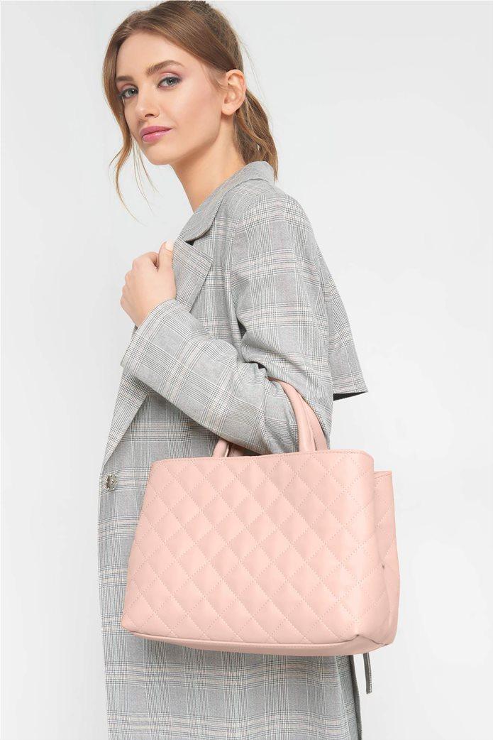 Orsay Γυναικεία τσάντα χειρός μονόχρωμη καπιτονέ 0