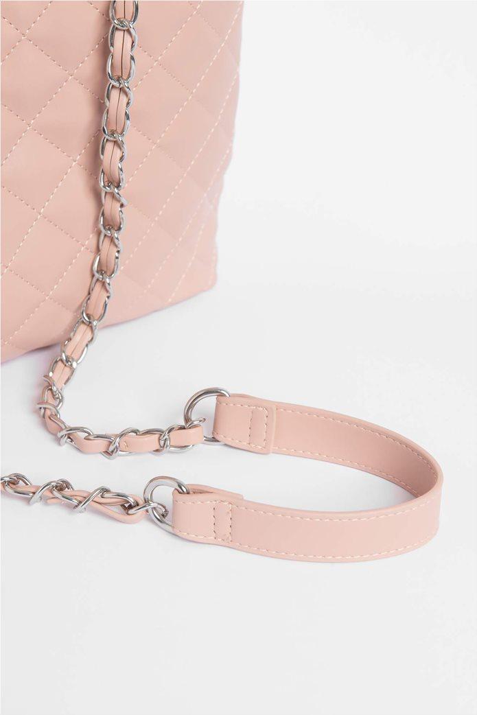 Orsay Γυναικεία τσάντα χειρός μονόχρωμη καπιτονέ 3