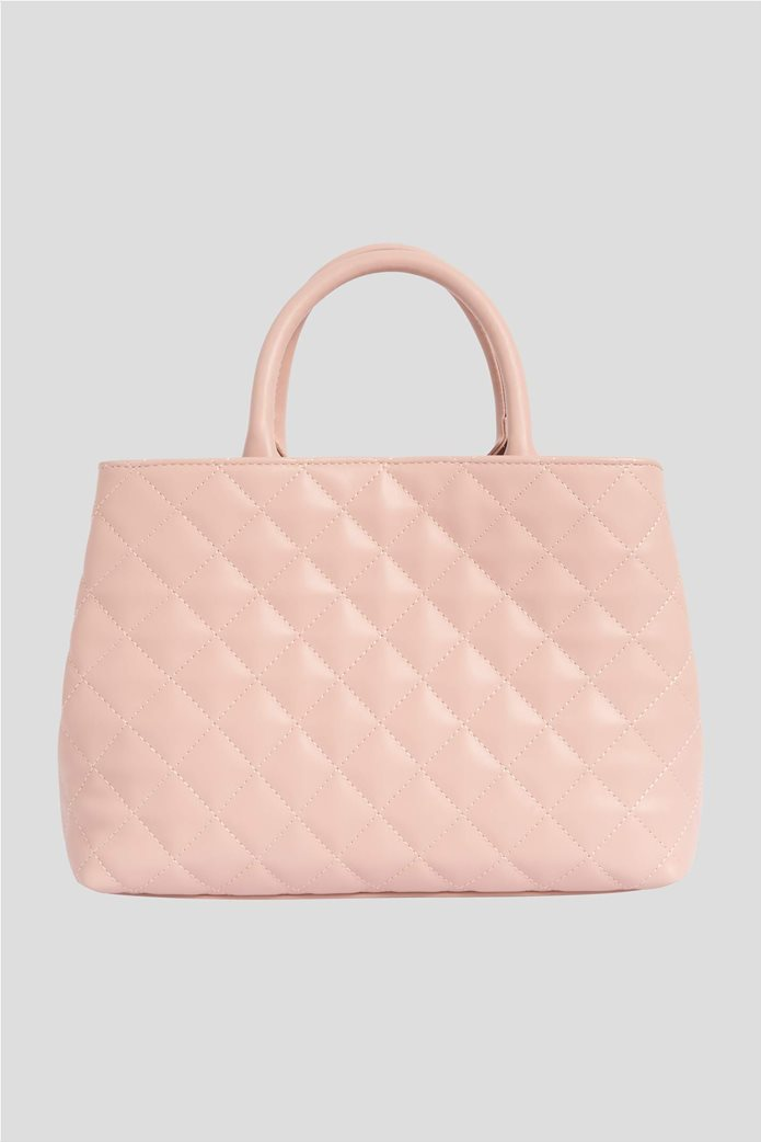 Orsay Γυναικεία τσάντα χειρός μονόχρωμη καπιτονέ 4