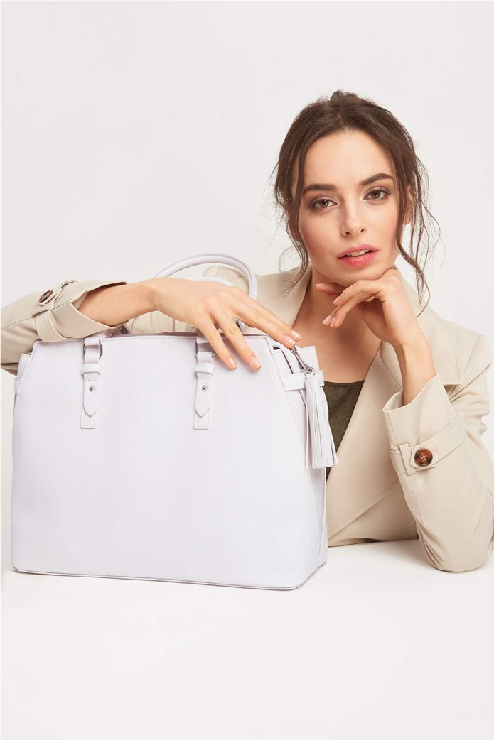 Orsay Γυναικεία τσάντα ώμου μεγάλη μονόχρωμη 0