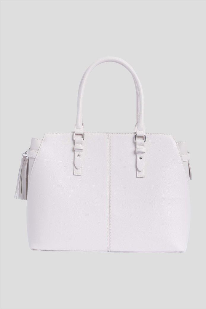 Orsay Γυναικεία τσάντα ώμου μεγάλη μονόχρωμη 1